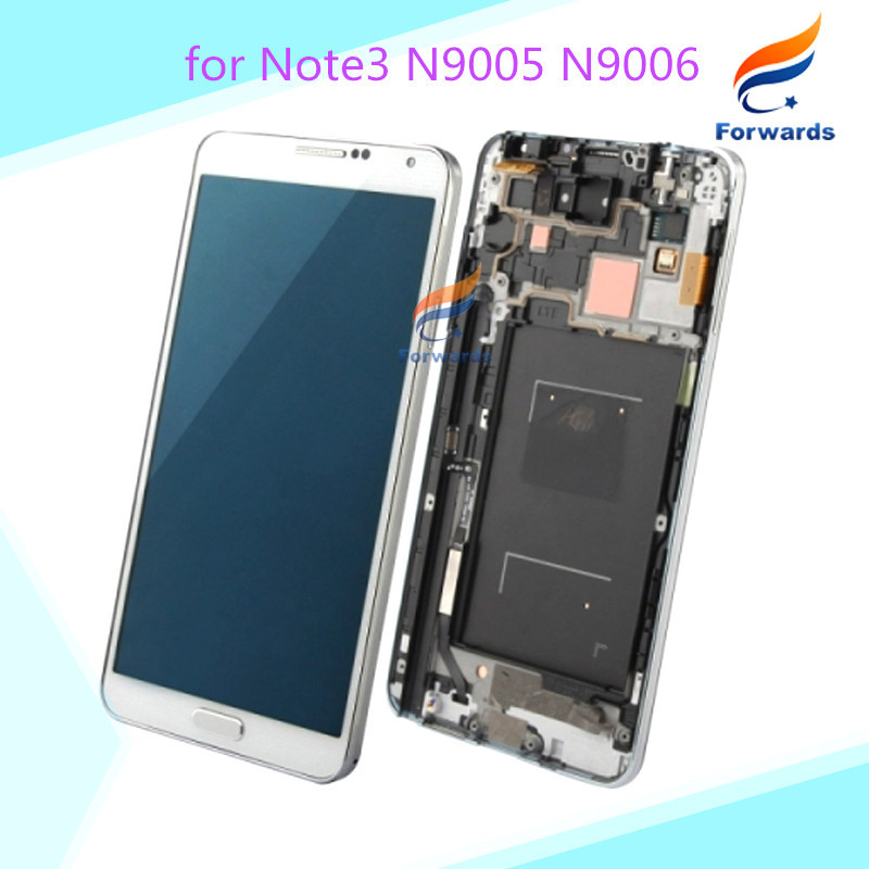 Replacement for Samsung Galaxy Note 3 N9005 N9006 LCD display + touch screen digitizer with frame assembly 1 piece free shipping(China (Mainland))