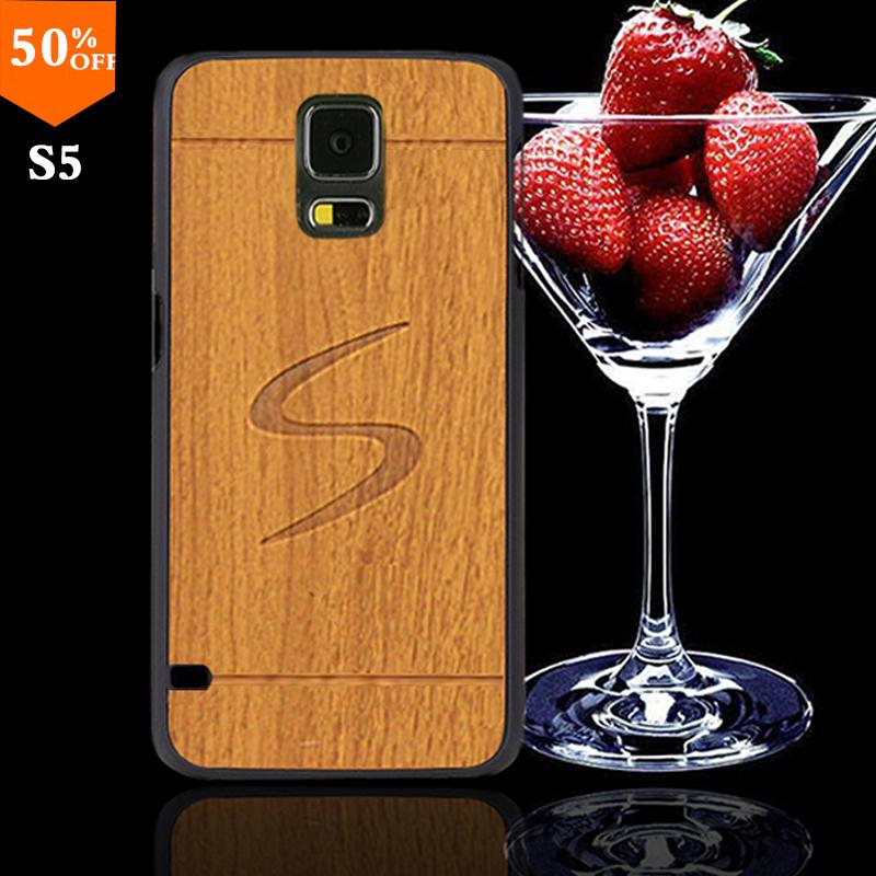 2016 wood case for samsun samsung galaxy s5 s 5 i9600 wood skin case with hard by cover mobile phone covers wooden free shipping(China (Mainland))