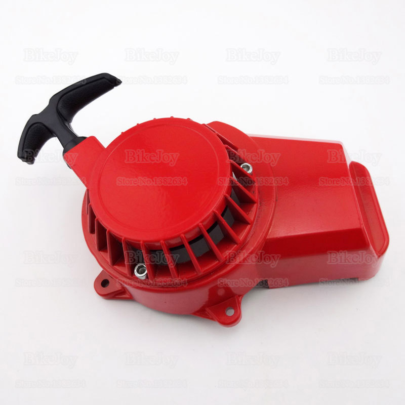 Red Aluminum Alloy Pull Start Starter For 47cc 49cc 2 Stroke Engine ATV Quad Motorcycle Dirt Motorbike Parts(China (Mainland))