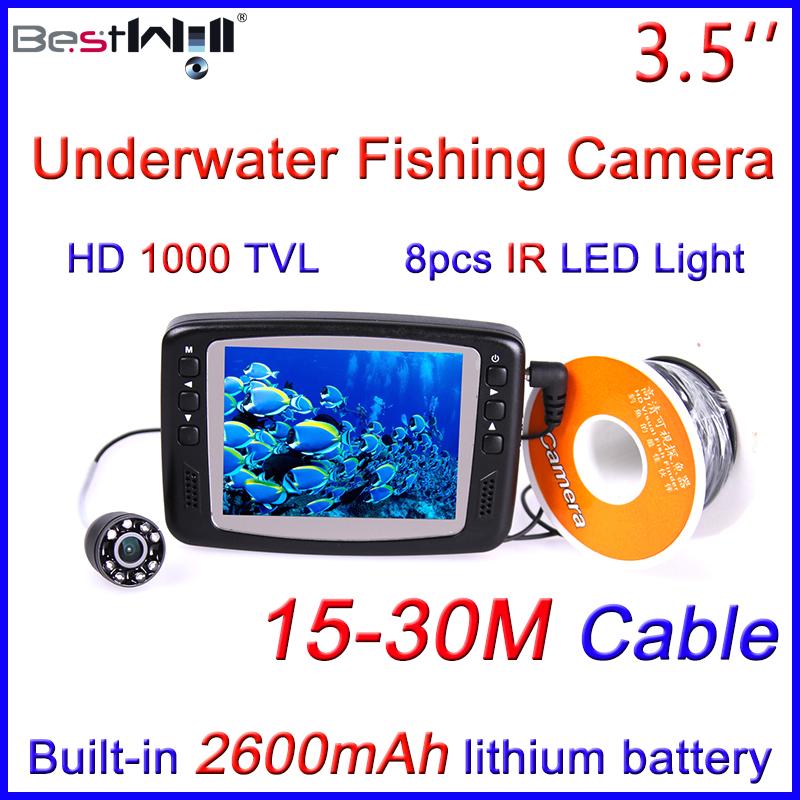 Hd 1000 tvl underwater fishing camera video fish finder for Underwater ice fishing camera