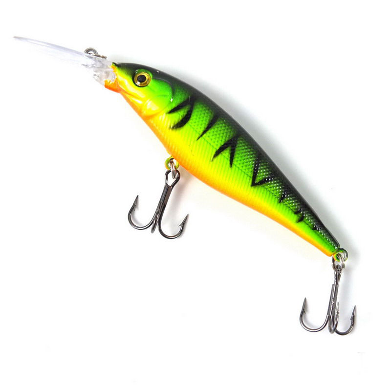 1PCS Super Quality 5 Colors 11cm 10.5g Hard Bait Minnow Fishing lures Bass Fresh Salt water 4#hook(China (Mainland))