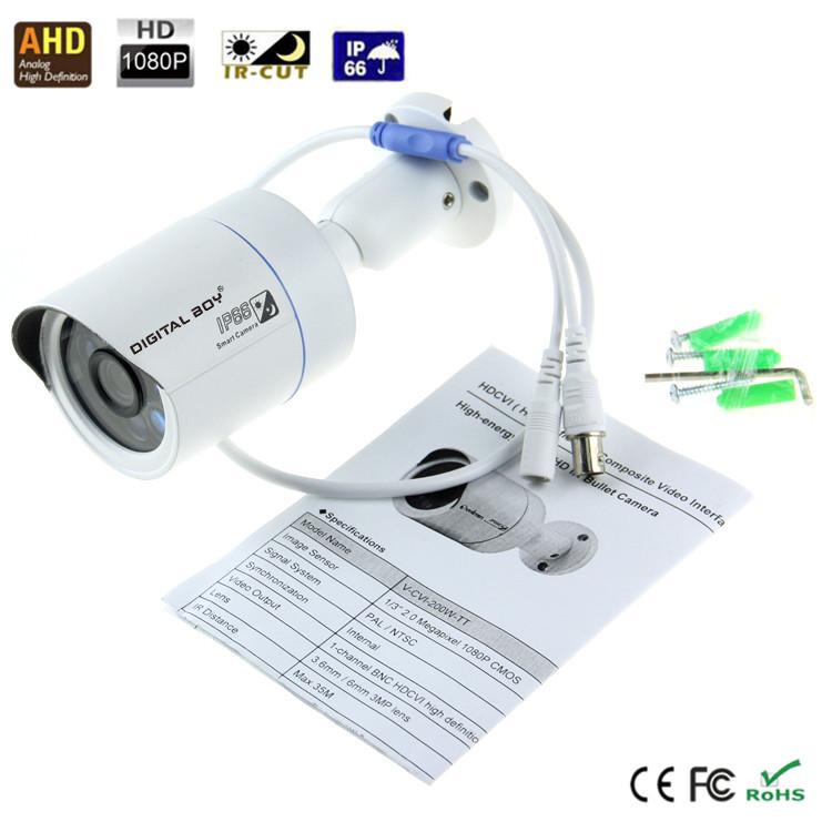 "New AHD Analog camera 1/2.5"" 2.0MP 1080P FULL HD CMOS security camera 3.0MP Lens with IR CUT 6pcs array LEDs night vision 35m #4(China (Mainland))"