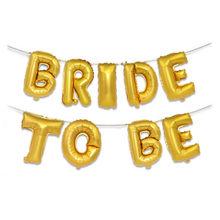 Mariage nuptiale douche 16 pouces or argent mariée à être lettre feuille ballons diamant anneau ballon pour poule partie faveurs décoration, B(China)