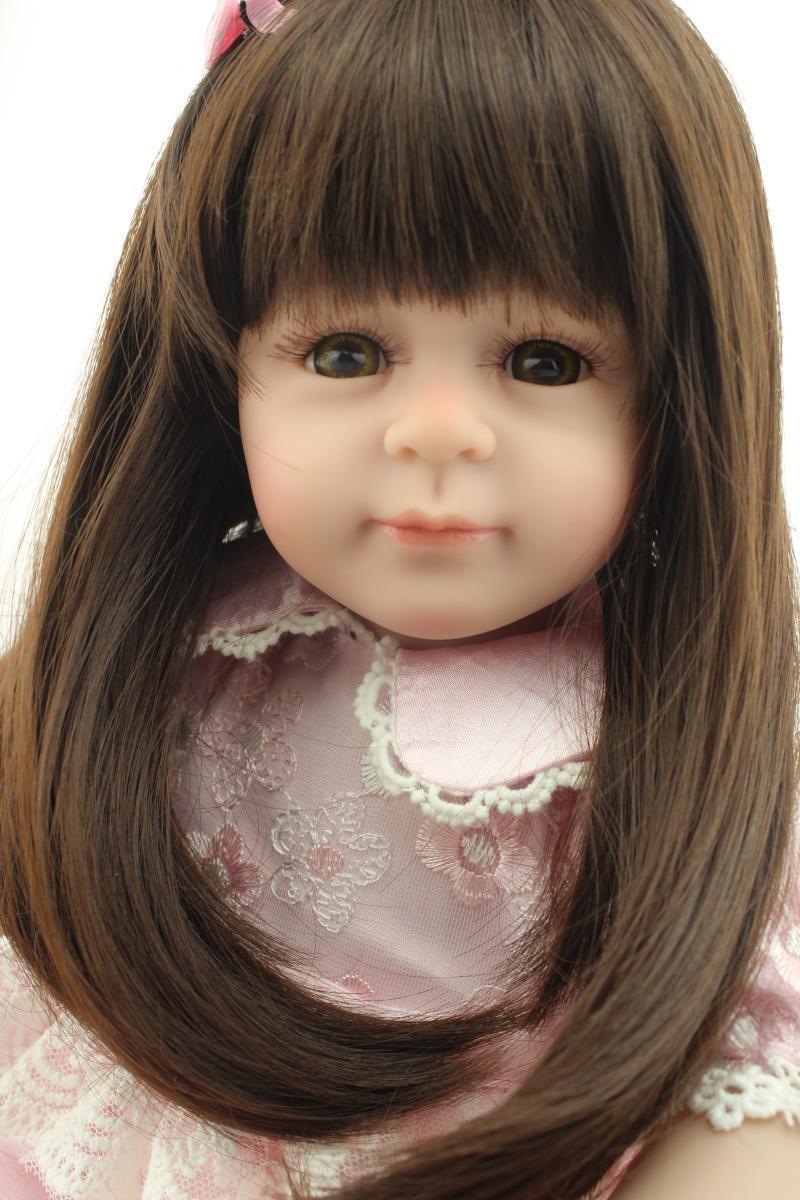 New 50CM cute lifelike girl dolls for children silicone reborn baby dolls princess dolls best girls bonecas birthday gift <br><br>Aliexpress