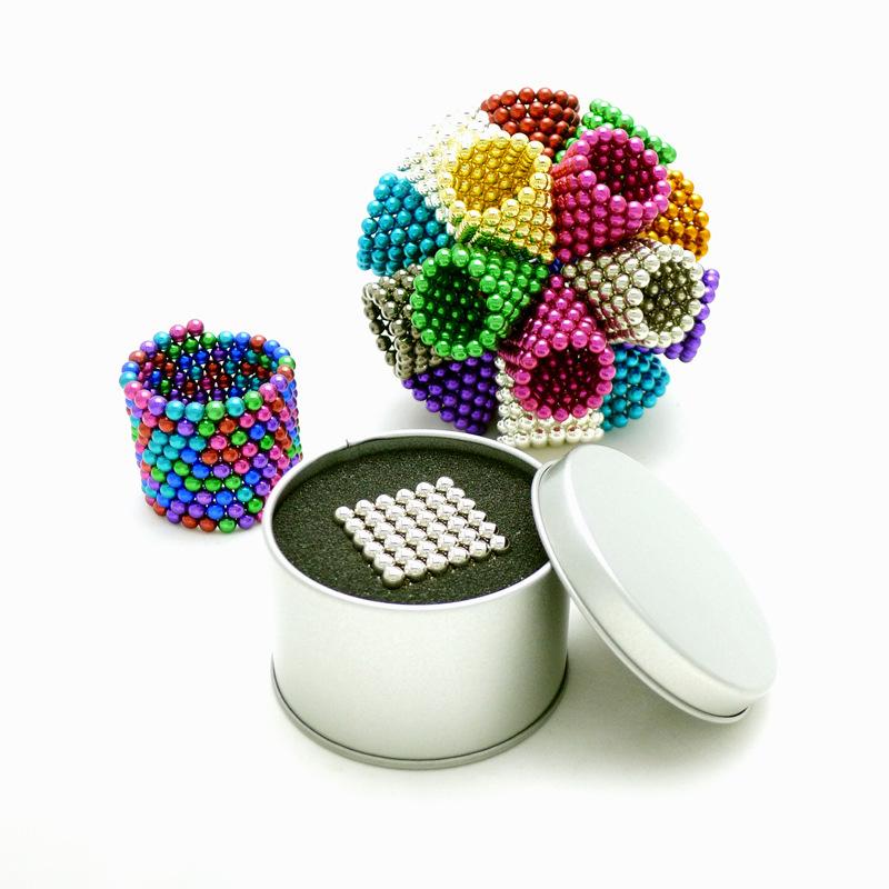 Neocube 216pcs/box 5mm Neodymium Magnetic Balls Spheres Beads Magic Cube Magnets Puzzle Birthday Present Children with Metal Box(China (Mainland))
