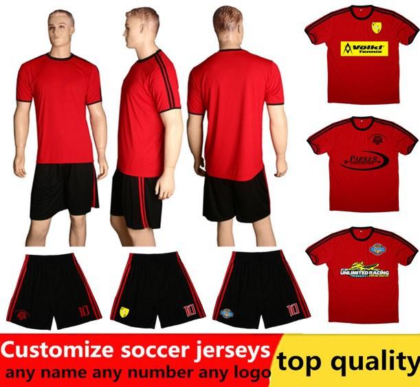 healong05 in stock  kids women custom soccer jersey design ,red soccer jersey  team uniform blank football suit set.(China (Mainland))