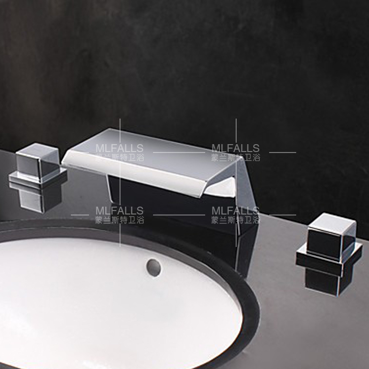 Three Piece Washbasin Faucet Waterfall Basin In Basin Faucets From Home