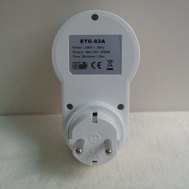 High Quality 220v-230V plug in switch socket digital timer converter  Energy-saving programmable timers temporizador EU Plug