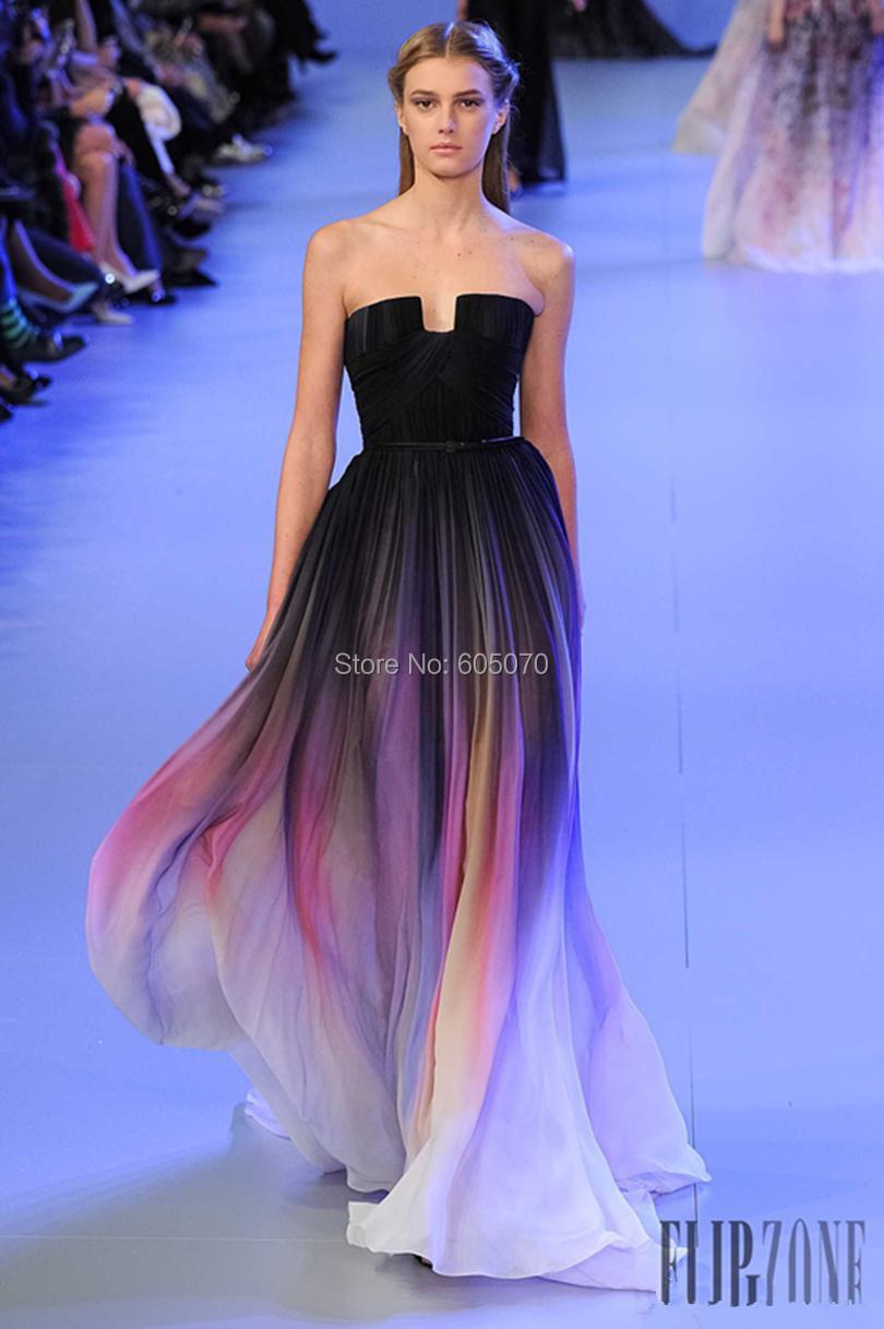 buy vestidos new gradient ombre chiffon
