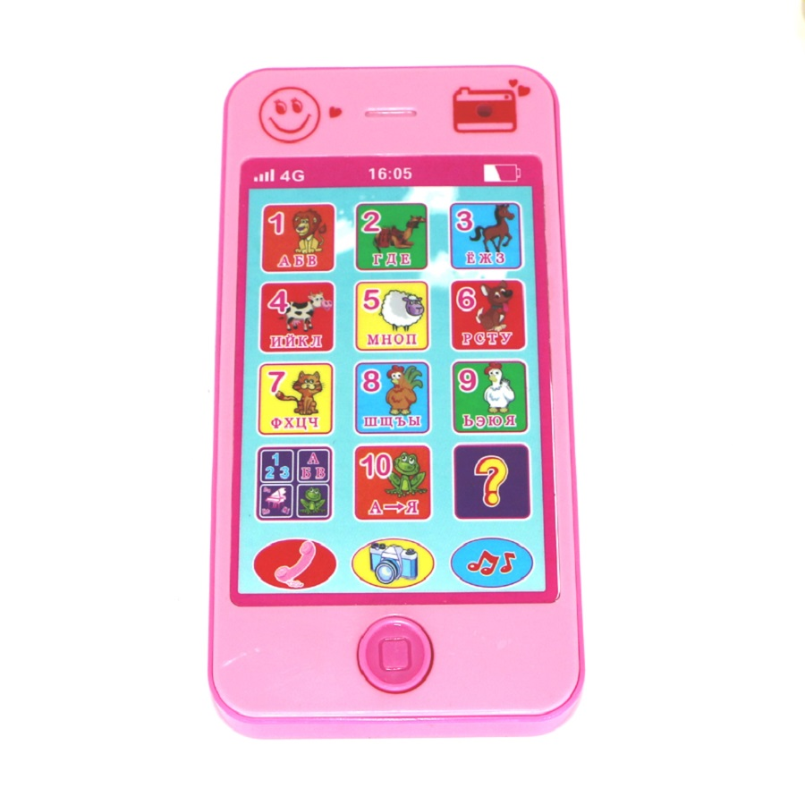 Children's toys baby educational simulationp kids music mobile phone 4G the latest version of russian language Baby phone(China (Mainland))
