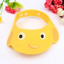 Fashion Safe Adjustable Soft Shampoo Bath Protect Shower Cap Hat Wash Hair Eye Shield Baby Kid Care Caps For Newborn Toddlers(China (Mainland))
