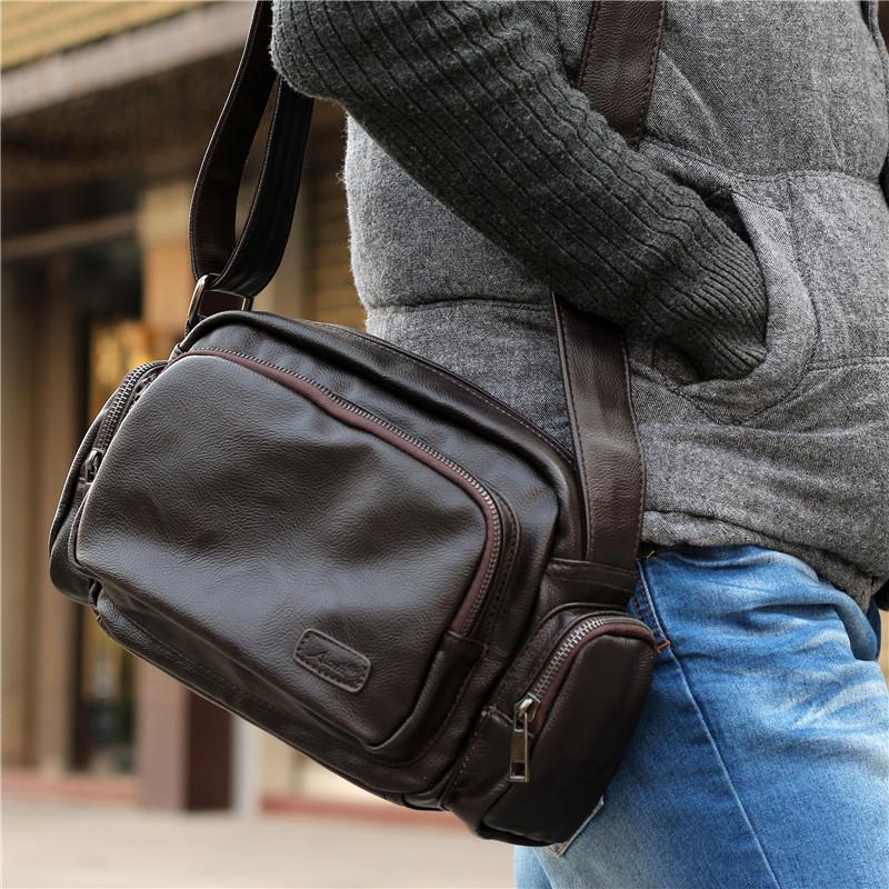 2015 New design fashion genuine leather bag men messenger bags casual small shoulder bags vintage crossbody bags bolsas de couro
