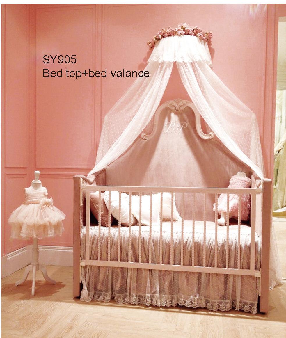 European Solid Wood Pink Crib German Beech Refined Baby Cot Princess Bedroom<br><br>Aliexpress