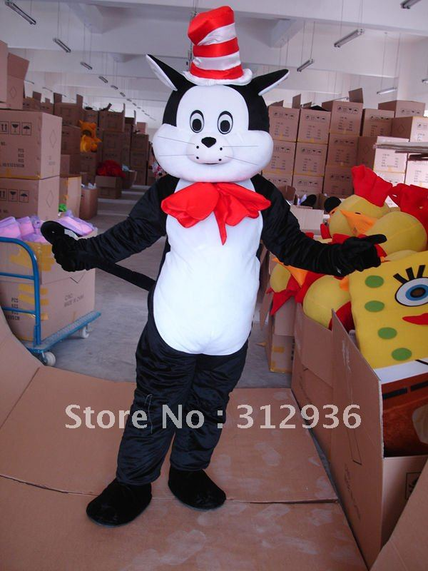 Оптовая БЕСПЛАТНАЯ ДОСТАВКА черный кошка плюшевые костюм талисмана персонажа из мультфильма косплей на заказ подгонянные продукты
