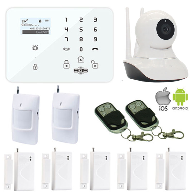 King Pigeon 720p IP Camera WIFI GSM/3G Camera Home Burglar Alarm System SMS Spanish Russian Door Sensor PIR Motion Detector W12K(China (Mainland))