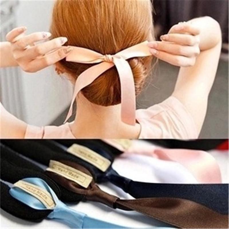 Fashion Magic Tools Foam Sponge Device Quick Messy Donut Bun Hairstyle Girl Women Hair Bows Band Accessories Silk Headband(China (Mainland))