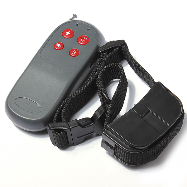 Best Promotion Safe Pet 4in1 Remote Small Medium Dog Shock Vibrate Collar Electronic Training Trainer Whistle Signal + LED Light(China (Mainland))