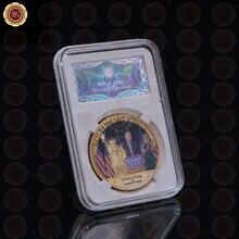 24 k 999.9 Trunfo Coin Banhado A Ouro O Presidente Americano Moeda Metálica Ano novo Presentes Ofícios do Metal com Caixa Agradável para Presentes de Aniversário(China (Mainland))
