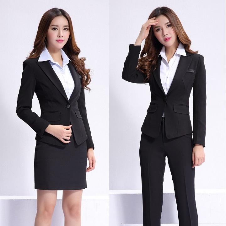 formal feminino blazer women skirt suits work wear sets ladies office