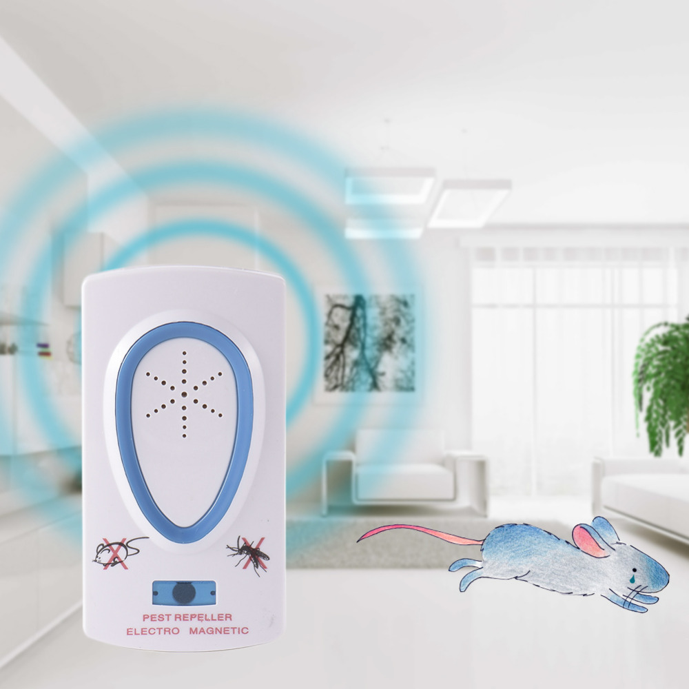 EU Plug ABS 110-220V Ultrasonic Pest Repeller Electronic Insect Repellent Device Pest Control Rodent Mouse Anti Mosquito Insect(China (Mainland))