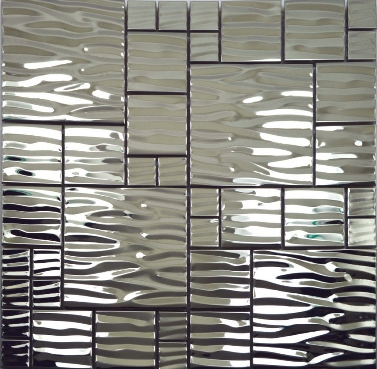 free shipping! silver color stainless steel metal mosaic tiles for hallway mosaic tiles kitchen backsplash house renovation(China (Mainland))
