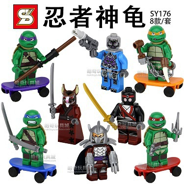 Wholesale 10Lot SY176 Building Blocks Super Heroes Teenage Mutant Ninja Turtles Minifigures Bricks Figures Toys For Children<br><br>Aliexpress
