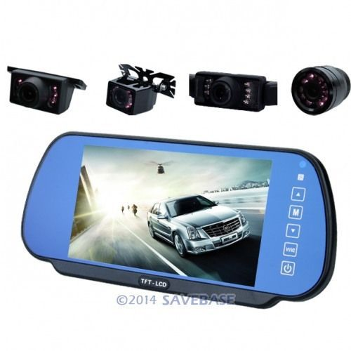 HOMSECUR In-Car Rear View Mirror 7 Inch LCD Monitor + Reversing Back Up Camera +Bluetooth(China (Mainland))