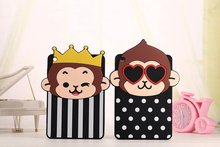 Super Cute Cartoon Animal Monkey Mickey Minne Mouse Soft Silicon Cases Fundas Cover For Ipad Mini 1 2 3 protective casing(China (Mainland))