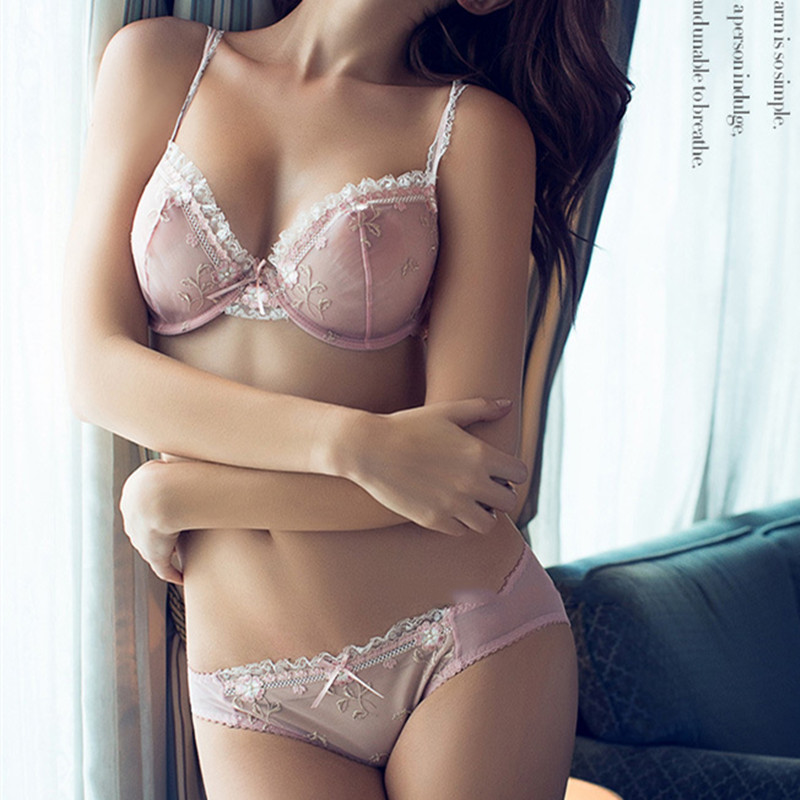 In lady lingerie sheer