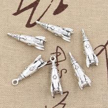 Buy 99Cents 4pcs Charms rocket missile spaceship 24*9*9mm Antique Making pendant fit,Vintage Tibetan Silver,DIY bracelet necklace for $1.00 in AliExpress store