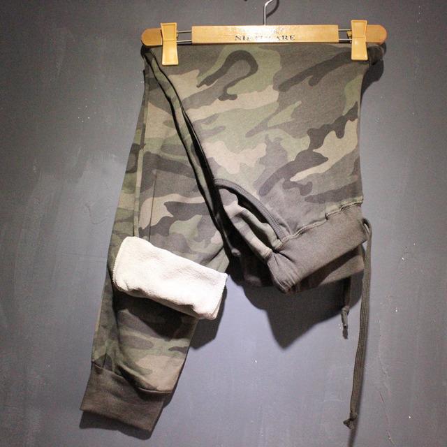 Высокое качество новый 2015 осень / зима мода женщин хлопок камуфляж спортивные штаны ...