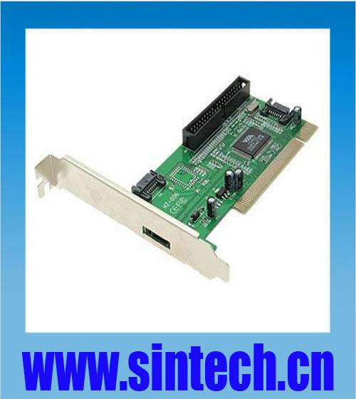 PCI 32bits to 3 ports SATA +1port IDE PATA raid controller card converter adapter,chipset VIA 6421(China (Mainland))