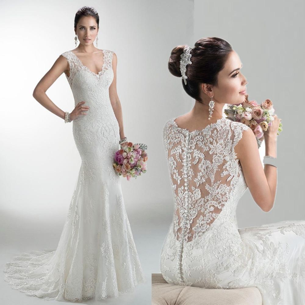 Buy lace tank zipper beautiful wedding for Beautiful sexy wedding dresses