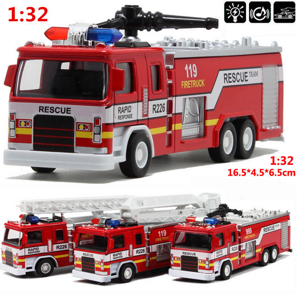 Free shipping Mini 1:32 scale alloy construction vehicles, pull back model toys cars,Fire truck,Diecast car(China (Mainland))