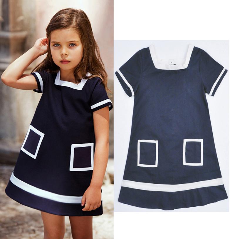 Summer Children Dress Wholesale Simple Comfortable Short Sleeves Kids Leisure dress New designer Baby clothing infantil menina<br><br>Aliexpress