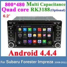 Android 4.4.4 For Subaru Forester Impreza 2 Din Car GPS DVD Quad core RK3188 CPU GPS WIFI 3G USB Bluetooth Car radio stereo