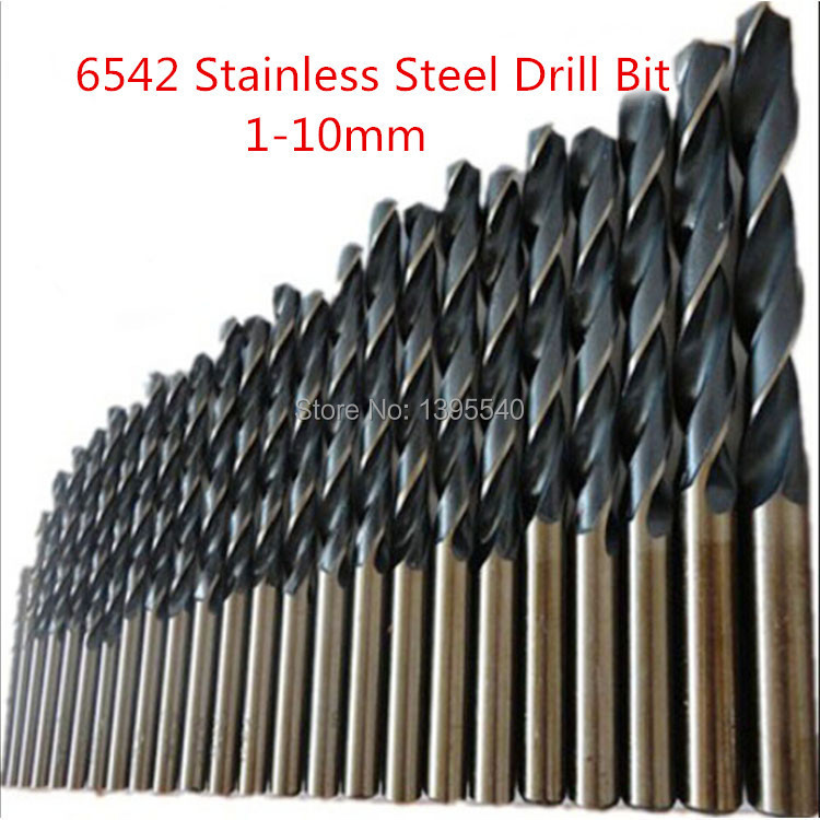 2mm HSS6542 Twist Drill Bits 6542 Straight Shank Drill Stainless Steel Special Twist Drill 1-10mm Metal Bit