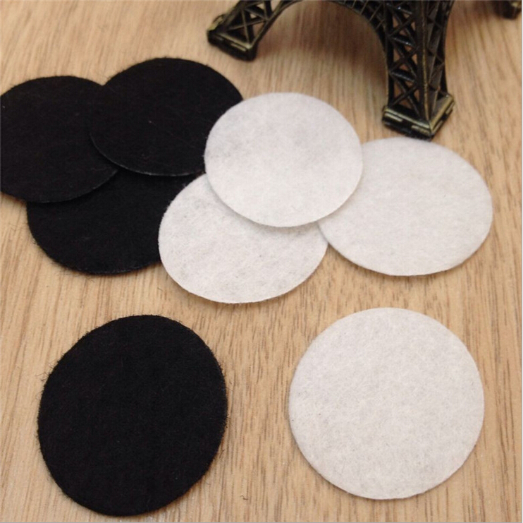 Wholesale Non-woven fabric spacers for Diy jewelry accessories round felt white & black 2.5cm/25MM diameter 1000pcs/lot(China (Mainland))