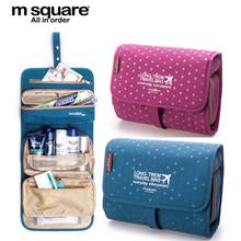 M Quadrado saco de Viagem Esteticista Cosméticos Saco Organizador de Higiene Pessoal Bolsa de Maquiagem Lavagem Compo o Saco Organizador Bolsa Neceser Maquiagem Caso
