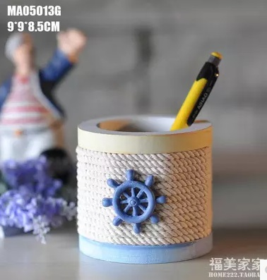 Pen Mediterranean style wooden ornaments creative home decorations office pen pure arts and crafts furnishings Pen Holder(China (Mainland))