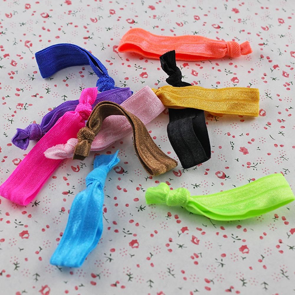 10pcs fashion Candy Color Ponytail Holders twist yoga Ribbon Elastic Bands Hair Tie Hair Accessories Hair band Random Color(China (Mainland))