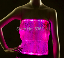 women fashion top 2014 Christmas costume led party evening dance costumes Luminous clothing fashion PARTY sexy women LED top(China (Mainland))