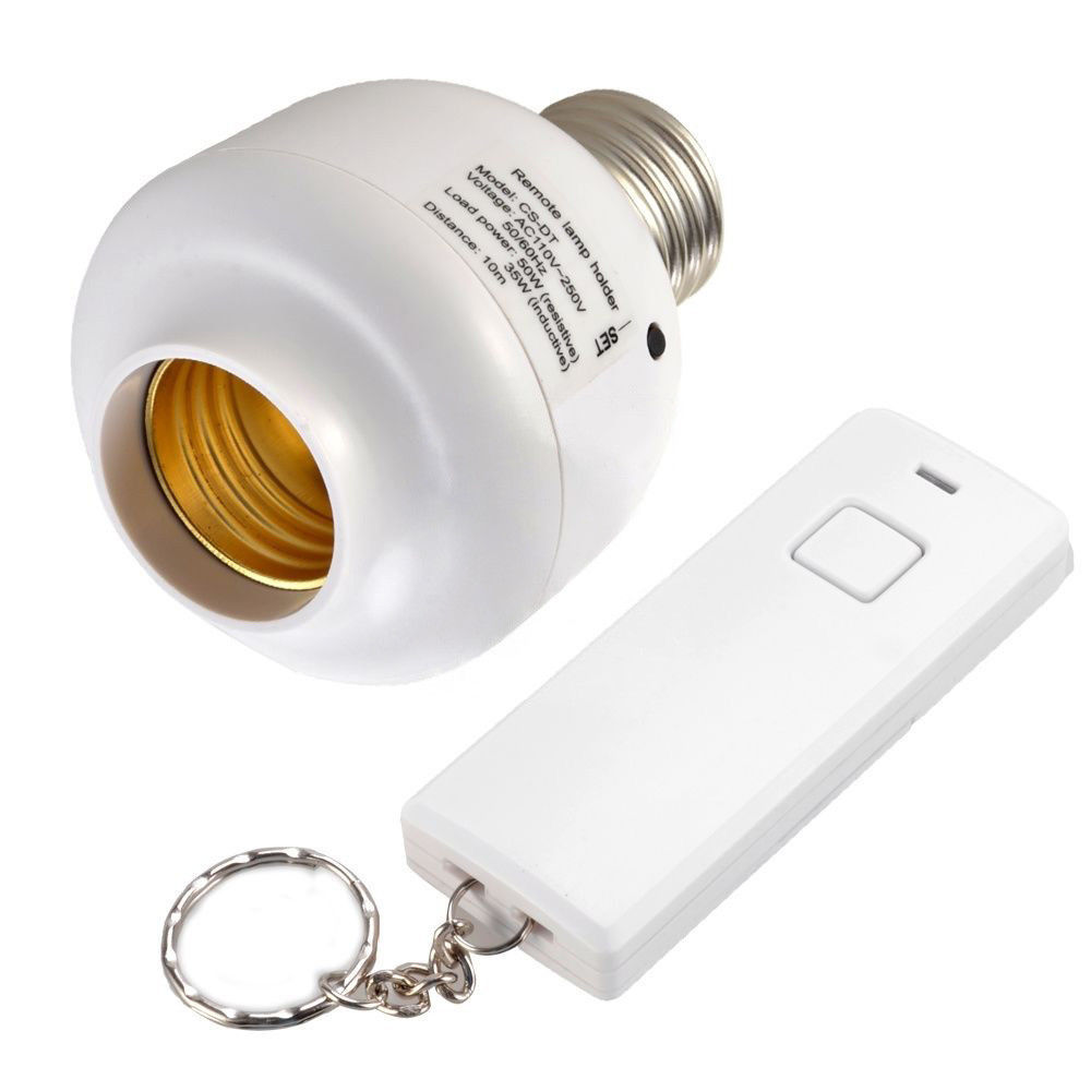 2014 New E27 Screw Wireless Remote Control Light Lamp Bulb Holder Cap Socket Switch Tested Good(China (Mainland))