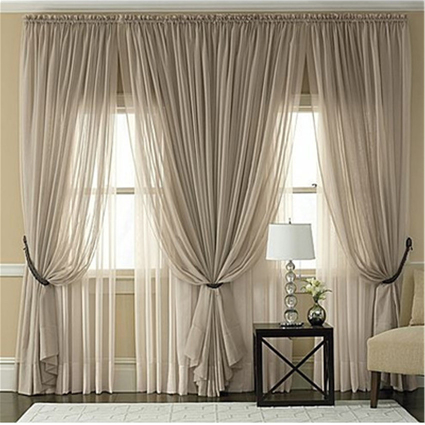 Living Room Curtains Cheap : Multicolor sheer tulle curtains Cheap Custom window ...