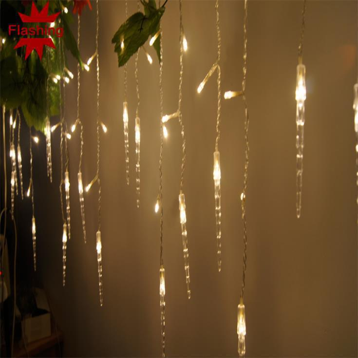 122LED 4M curtain string lights 220V Christmas Garden lamps New year Icicle Lights Xmas Wedding Party Decorations(China (Mainland))