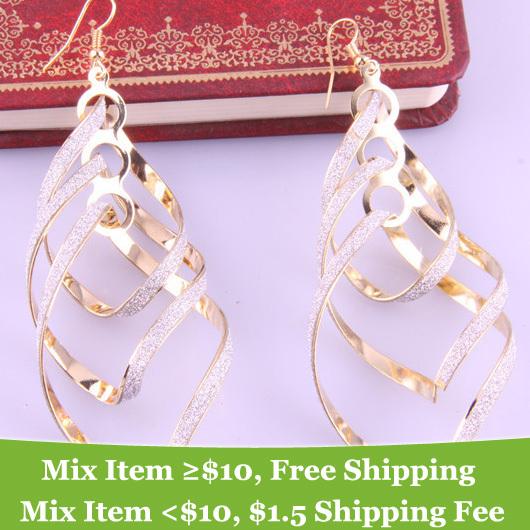 Fashion Spiral Multilayer Drop big earrings jewelry for women 2013 2013 New style earrings<br><br>Aliexpress
