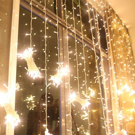 6* 3M 600LED Christmas LED Fairy String Christmas Lights Decoration Party Wedding icicle Curtain Lights Free Shipping<br><br>Aliexpress