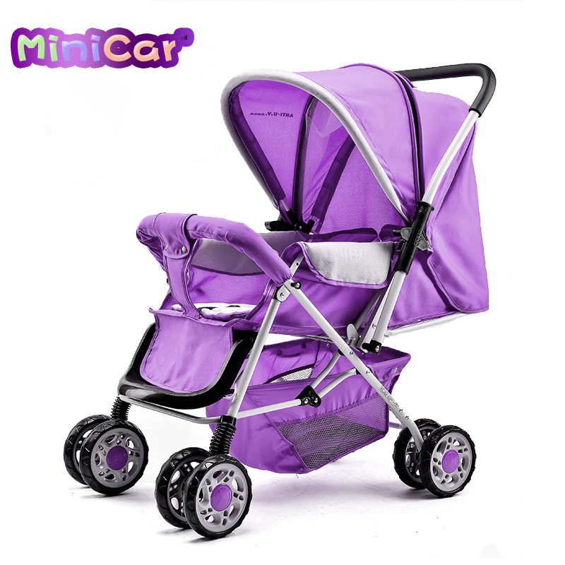 MiniCar stroller can sit or lie shock baby strollers deck trolley(China (Mainland))