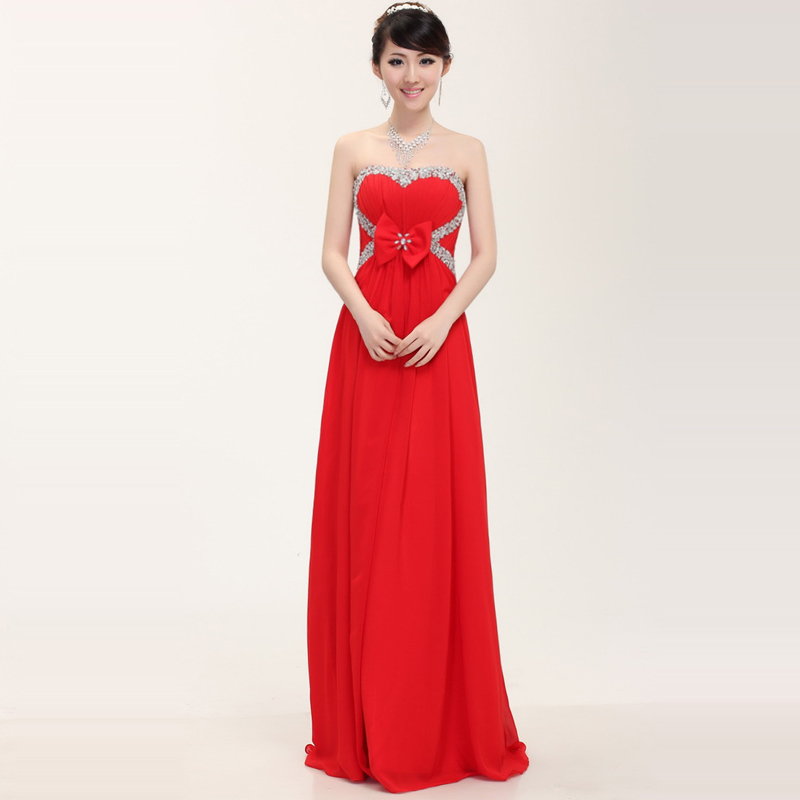 For plus size women long evening dress bride prom party for Formal long dresses for weddings