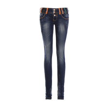 Hot Sale Skinny Jeans Woman Autumn Top New 2016 Pencil Jeans For Women Fashion Slim Blue Low Waist Jeans Women's Denim Pants(China (Mainland))